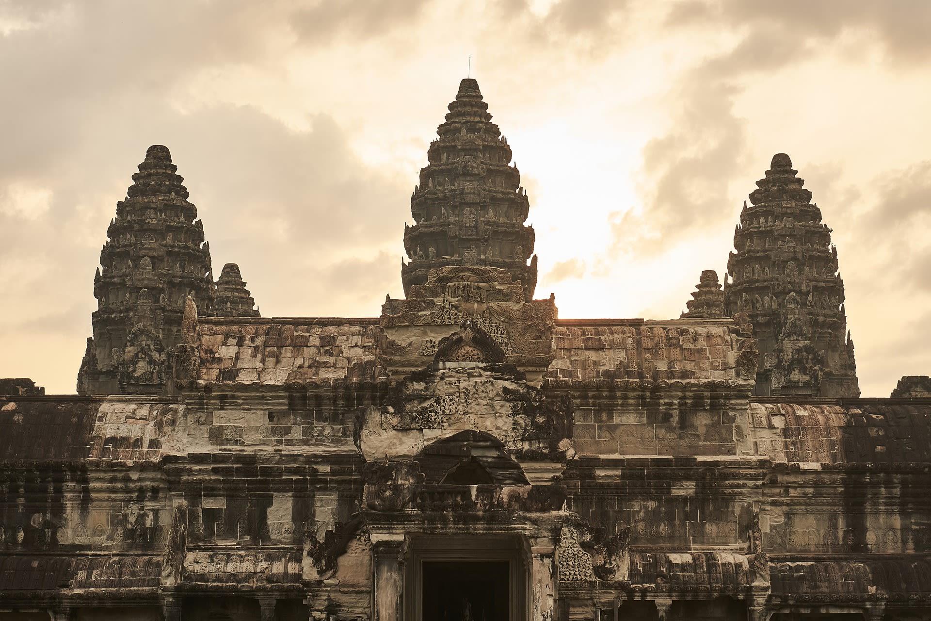 Highlights of Saigon, the Mekong, & Angkor Wat Tours 2019 - 2020 -  Cambodia Siem Reap Sunrise