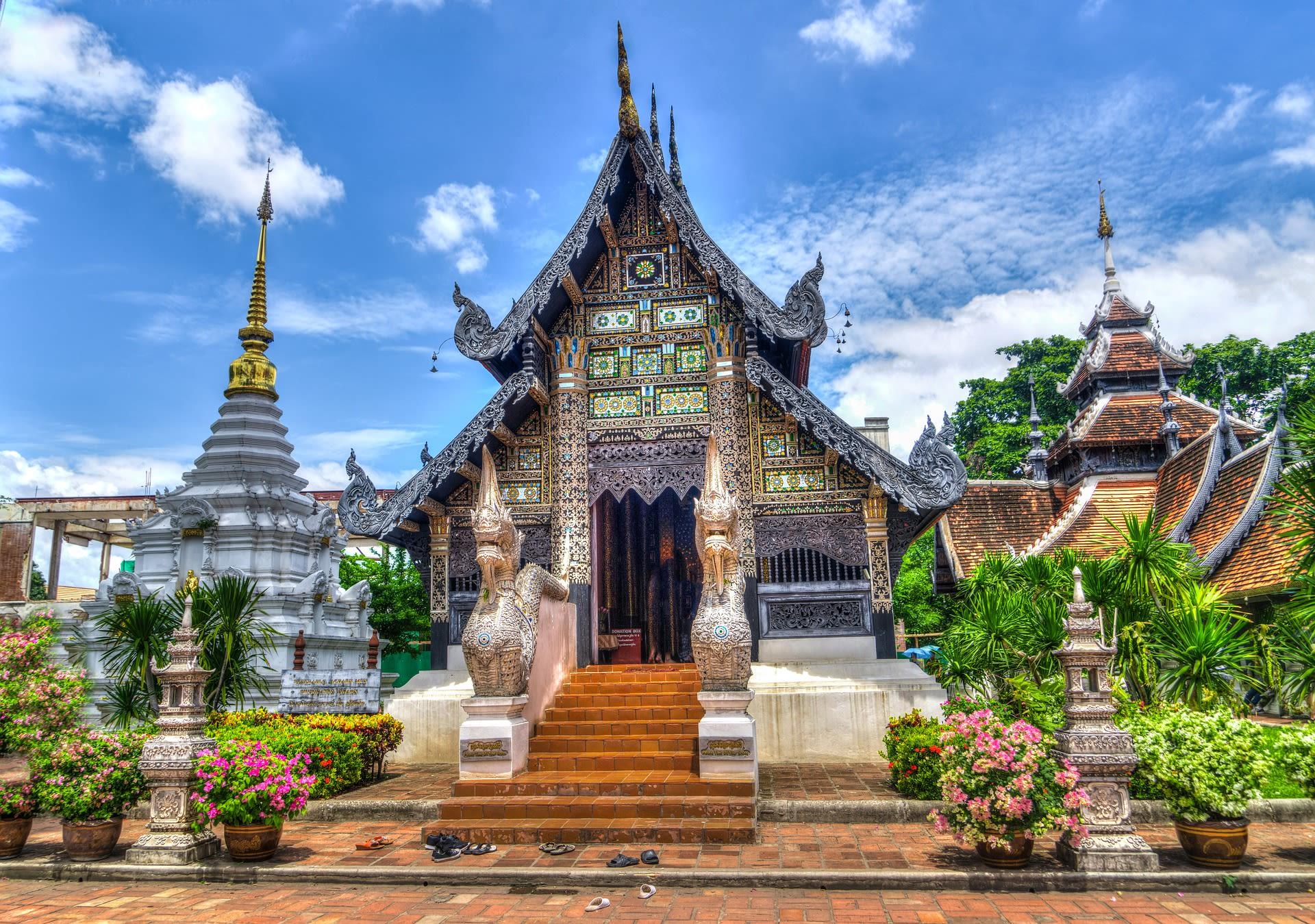 Vietnam, Cambodia & Thailand Signature Tours 2019 - 2020 -  Chiang Mai Temple in Thailand