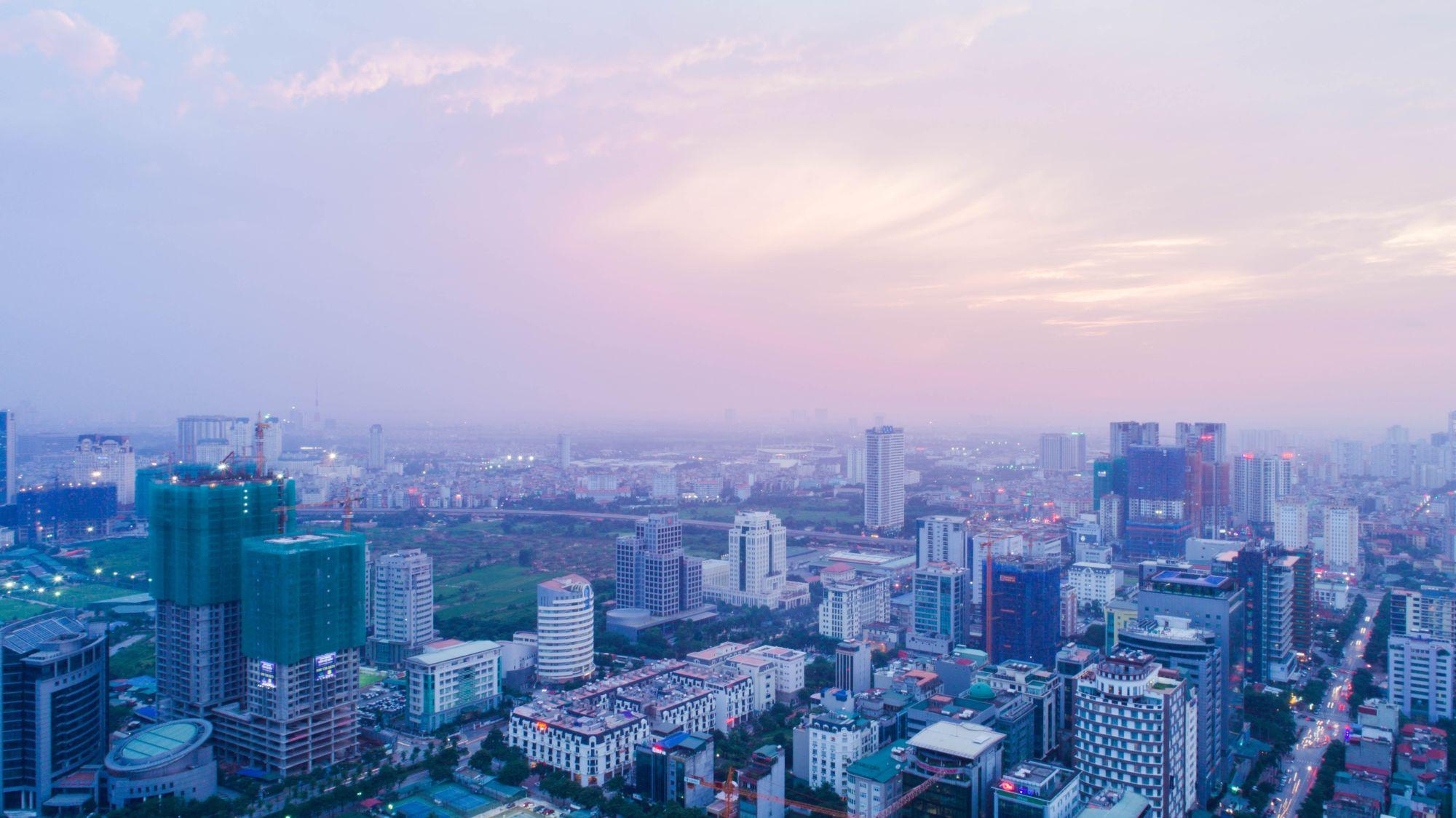 Vietnam, Cambodia & Thailand Signature Tours 2019 - 2020 -  Skyline of Hanoi capital of Vietnam