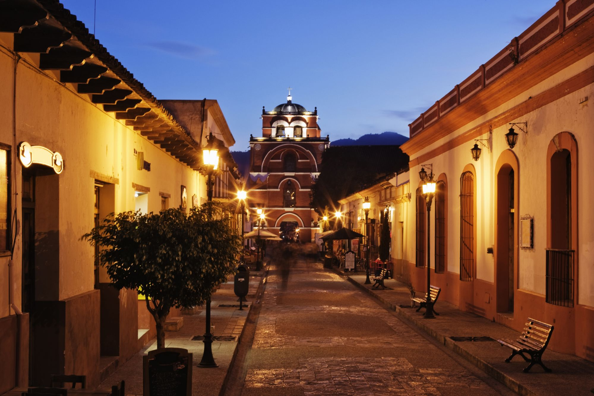Highlights of Mexico: Art & Archaeology Tours 2019 - 2020 -  night street