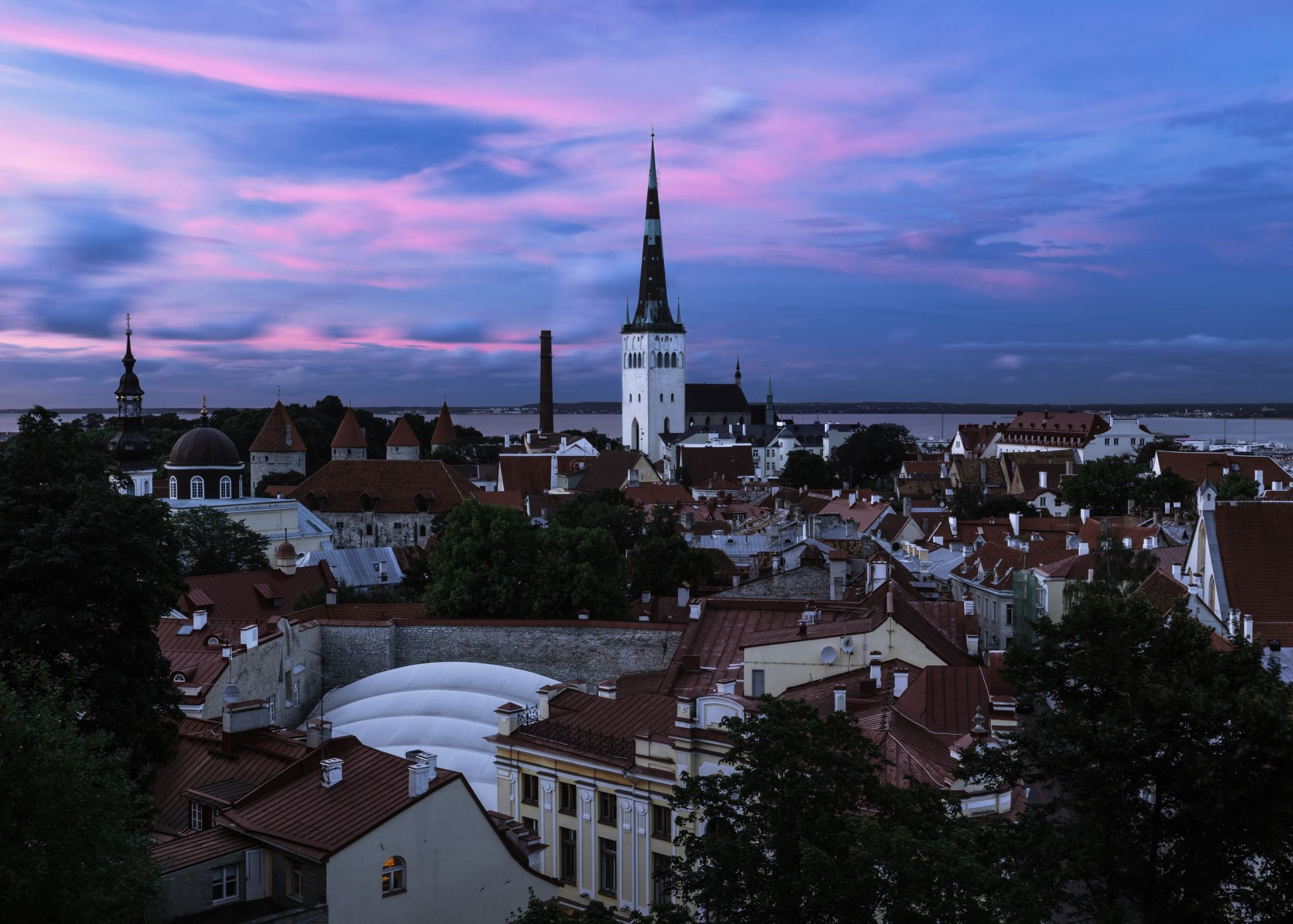 Russia & Baltics Signature Tours 2019 - 2020 -  tallinn sunset over city