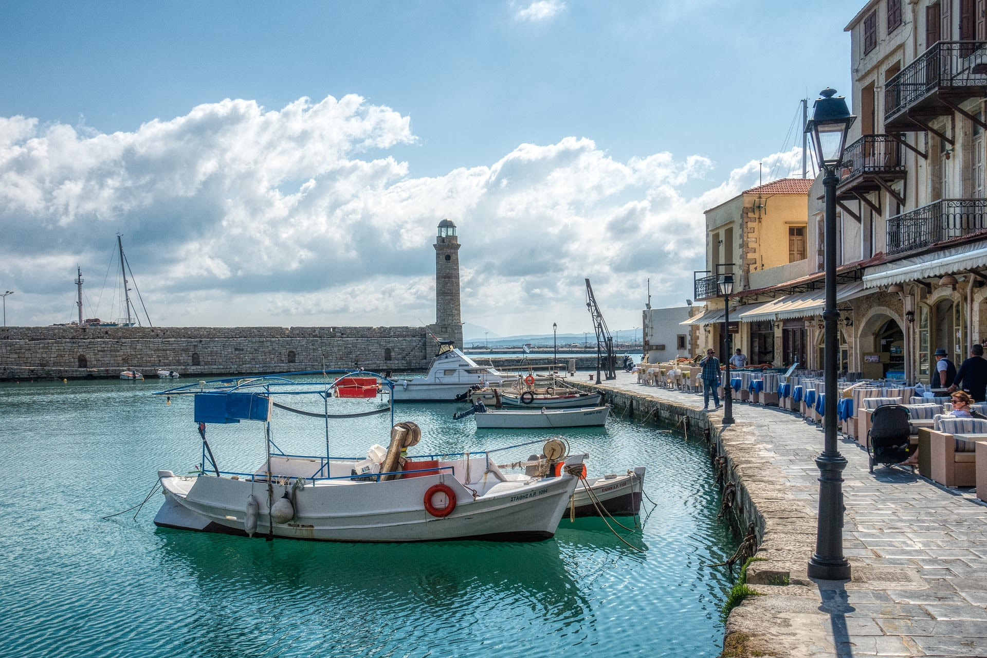 Greece Highlights with Crete Tours 2019 - 2020 -  Boats By The shore.