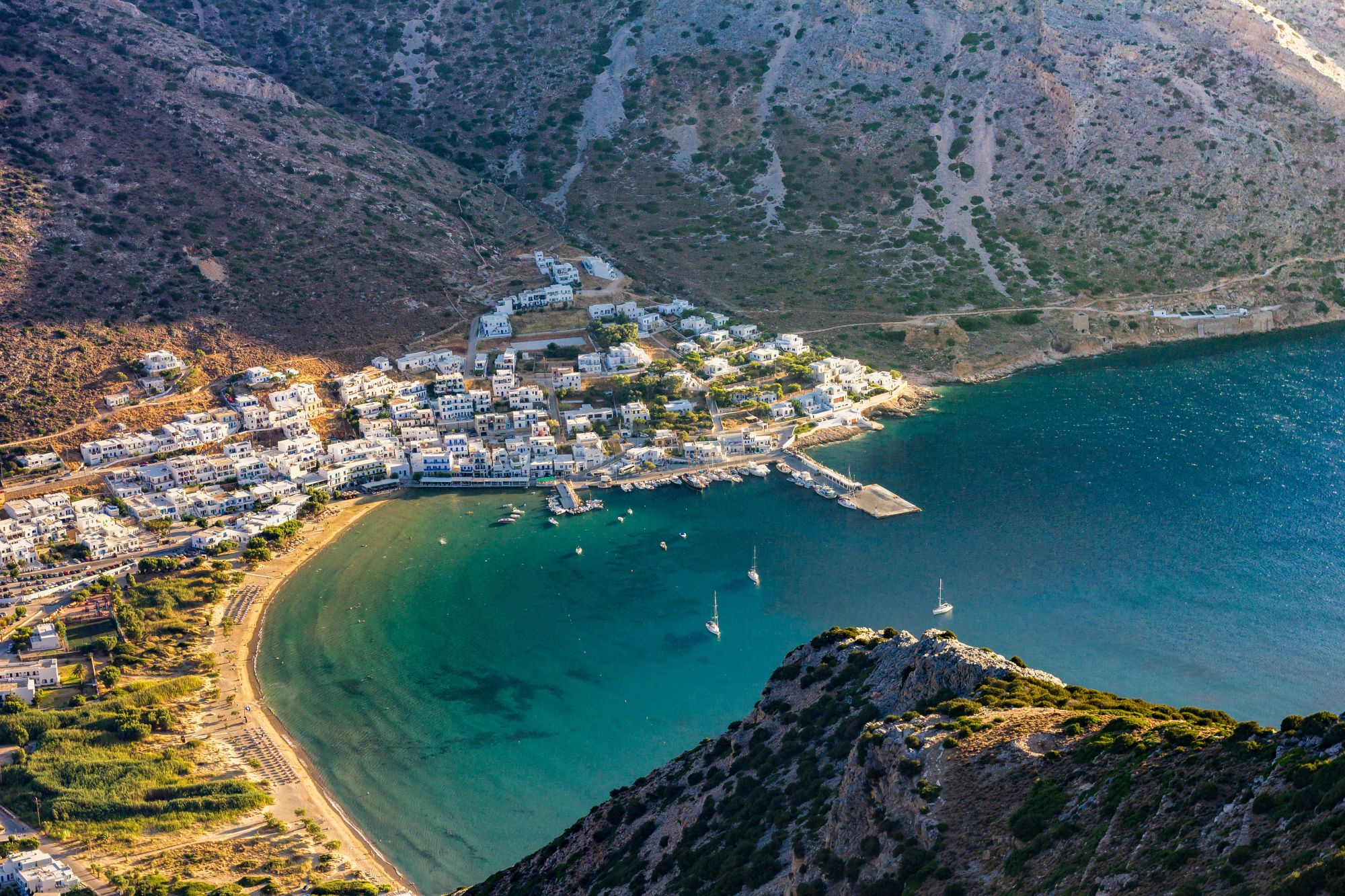 Greece Island Hopping Signature  Tours 2019 - 2020 -  Coastal Town View From Cliff